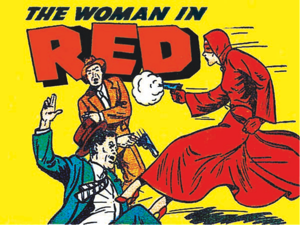 The Woman in Red is considered by many to be the first female costumed crime fighter of comic books. Debuting in 1940, Detect