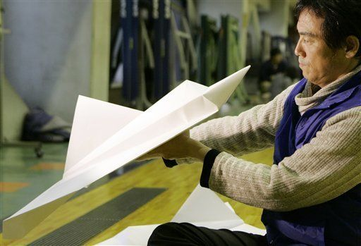 Who among us has not, at least once, made an airplane from a single sheet of paper, origami style, and sent it aloft to soar