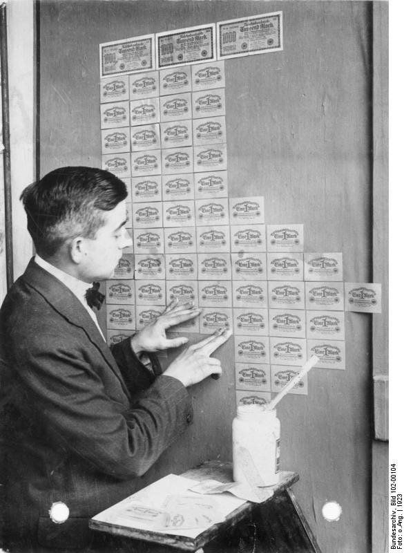 At the height of the German hyperinflation crisis of 1921-23, many billions of reichsmarks were turned out nonstop by more th