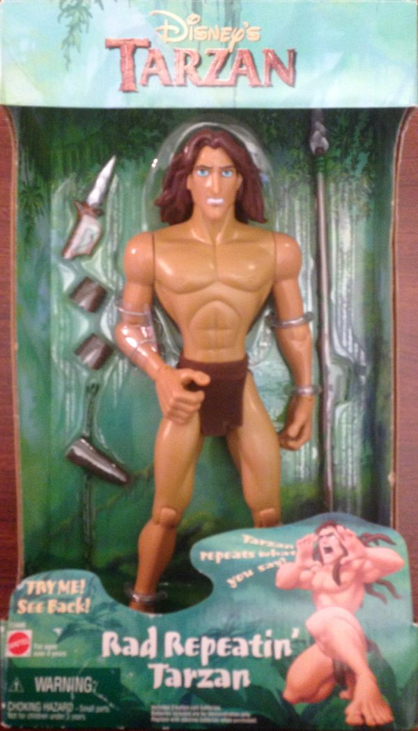 Disney's Tarzan was not intended to be this hilarious. The, we still believe, unintended action in this action figure was tha
