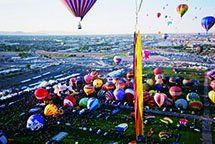 Five hundred feet above the Albuquerque International Balloon Fiesta, photographed by the author Richard Holmes in October  2