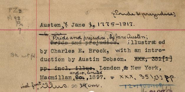 Library Catalog Cards For Classic Books (IMAGES) | HuffPost
