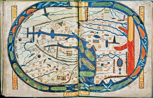 Saint-Sever World Map, from the <em>Saint Sever Beatus</em> (1086)