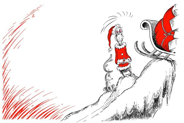 """Maybe Christmas,"" he thought, ""doesn't come from a store. Maybe Christmas…perhaps…means a little bit more!""   The Grinch is"