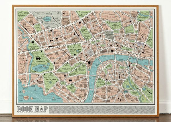 "Locations from over 600 works of English literature are included on this incredibly comprehensive book map.  <a href=""http://"