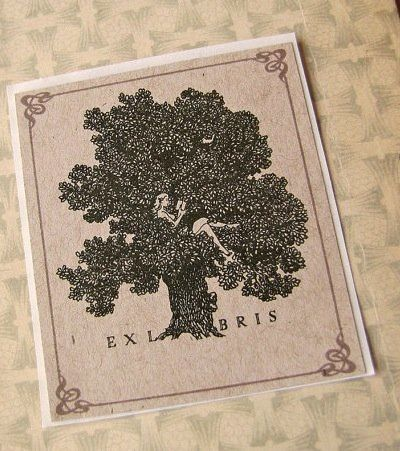"""Love nature? Love reading? Love reading in nature? <a href=""""https://www.etsy.com/listing/111419985/bookplate-stickers-vintage"""