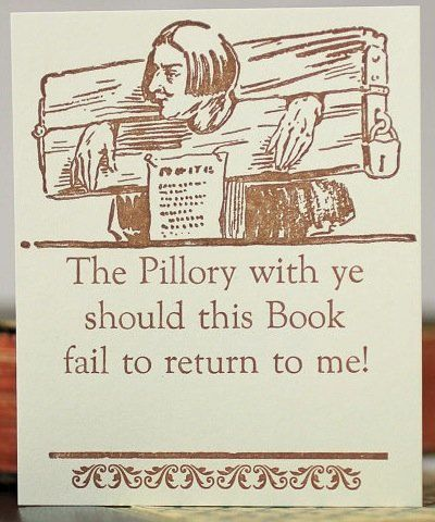 """If you really love your books, it's tempting to resort to scare tactics. <a href=""""https://www.etsy.com/listing/52061325/villa"""