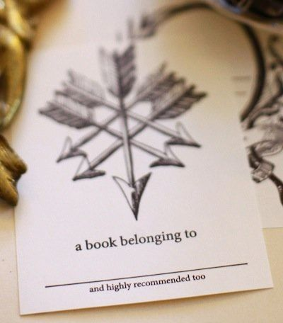 "If you only keep books you deeply admire, these bookplates might be right for you. <a href=""https://www.etsy.com/listing/7993"