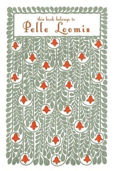 In lieu of papering every room in your house with this lovely print, you could simply paper every book you own with it. <a hr