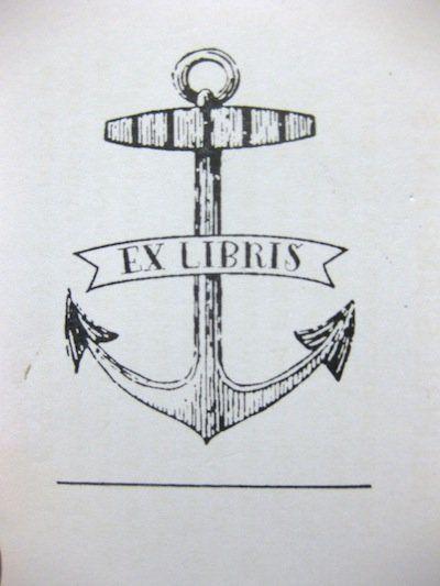 "Stamp away! <a href=""https://www.etsy.com/listing/125325020/bookplate-stamp-ex-libris-vintage-anchor?ref=sr_gallery_8&ga_sear"