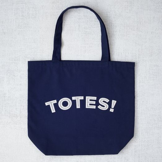 "What book lover doesn't enjoy a good pun?  From <a href=""http://www.westelm.com/products/mrk-market-tote-bag-totes-d1099/?cm_"