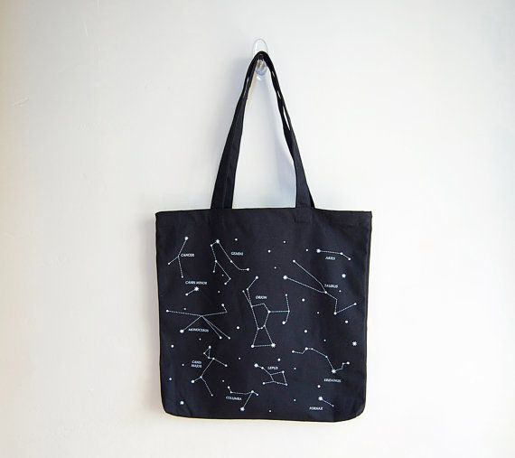 For storing your answers to the mysteries of the universe (i.e. books), a bag featuring an illustration of the universe!  Fro