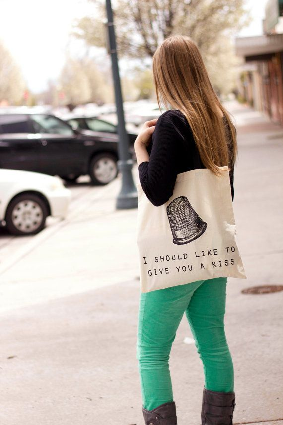 Less well-read passerby may take this tote to be an invitation, but book lovers will know you're expressing your love for Pet