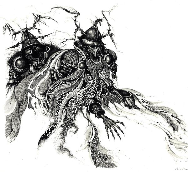 This image appears in the <em>Tolkien Bestiary.</em>