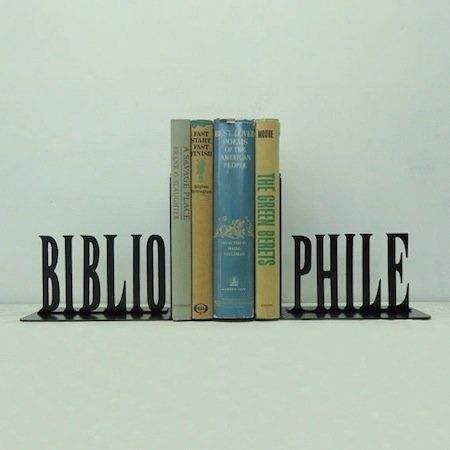 "Why yes I am, and thanks for noticing! (Via <a href=""http://www.etsy.com/listing/150643574/bibliophile-metal-art-bookends-fre"