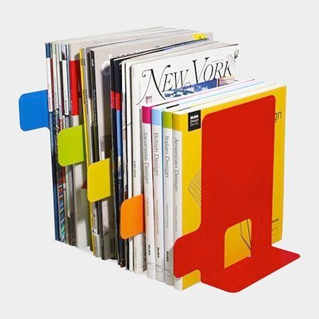These bookends don't stop at supporting your reading material -- they organize it as well! Separate different sets of magazin