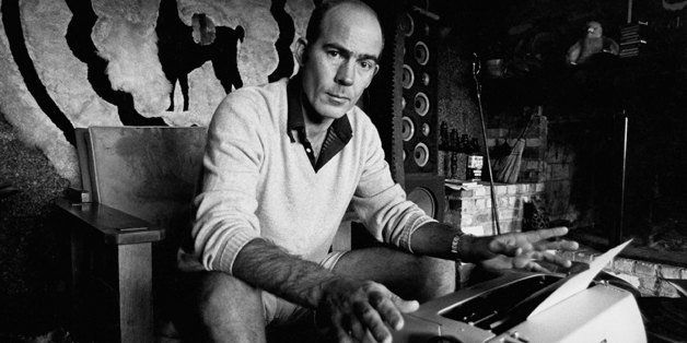 ASPEN CO - CIRCA 1976:  Journalist Hunter S. Thompson sits at his typewriter at his ranch circa 1976 near Aspen Colorado. (Ph