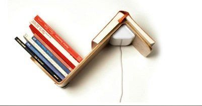 """Bookshelf, booklight, AND bookmark. There's nothing this all-in-one item can't offer to a book lover. (Via <a href=""""http://de"""