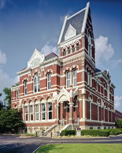 The Willard Library, built in 1885, is the oldest public library building in the state of Indiana and is housed in a spectacu