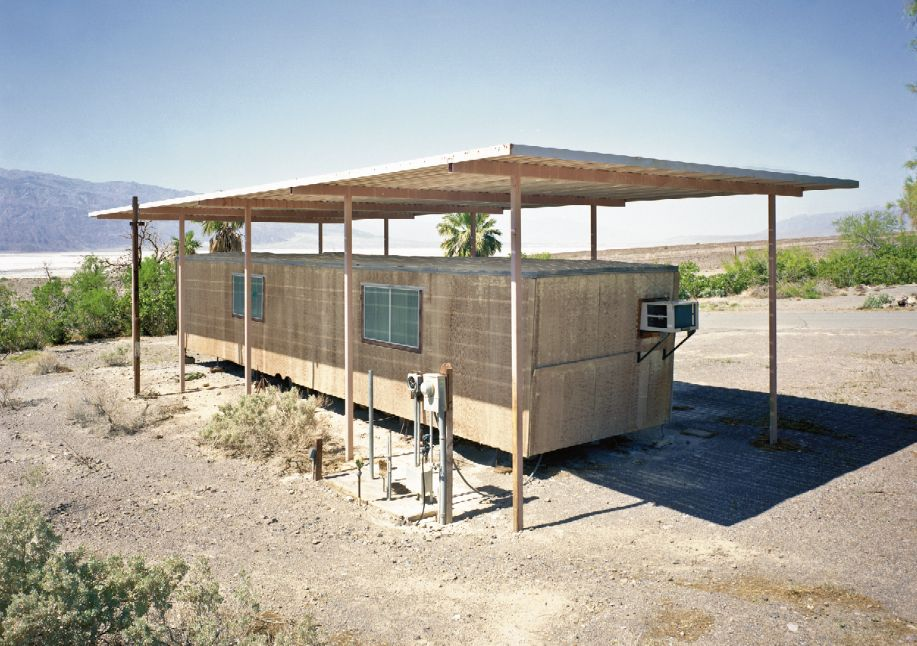 This remote library in a trailer is the only library for hundreds of miles. The roof is shaded to lessen the intense summer h