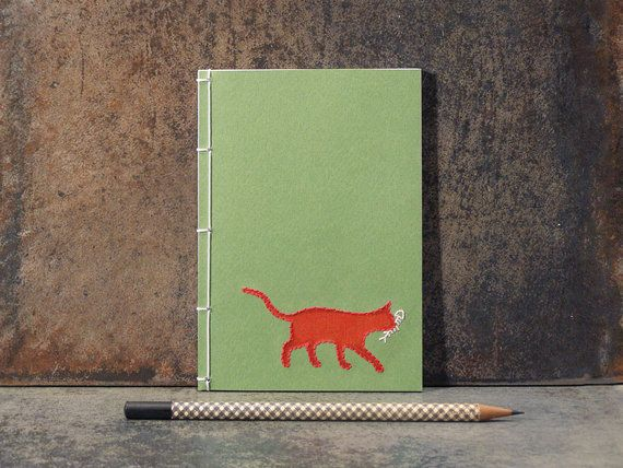 """Dear Journal,  Today, Skittles took a nap, hid under the bed, then took another nap.""  <a href=""https://www.etsy.com/listing"