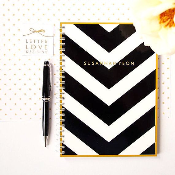 You can personalize just about everything about this notebook, including the color, pattern, and embossment design.   <a href