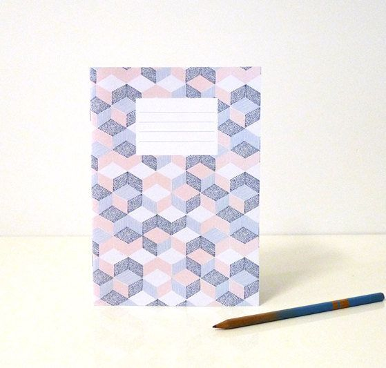 "Double down on the tactile feel notebooks provide with this patchwork design.   <a href=""https://www.etsy.com/listing/1767885"