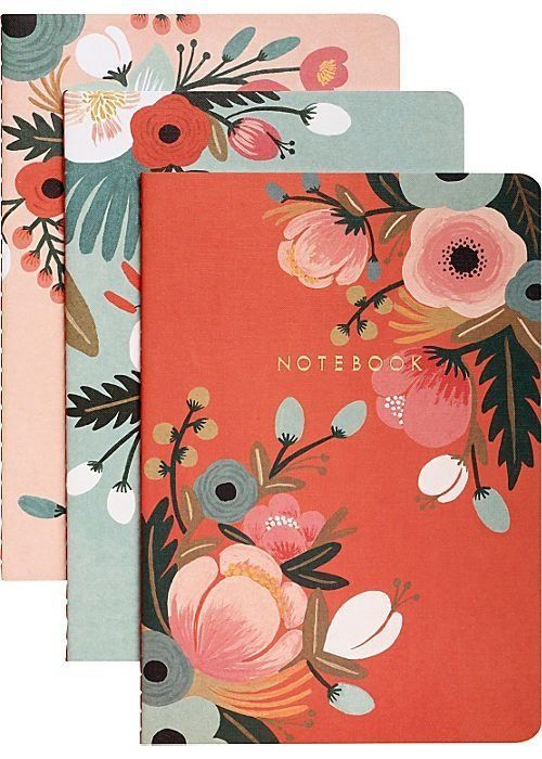 These notebooks may pose a problem: They're so adorable, you won't want to fudge them up with anything less than immaculate h