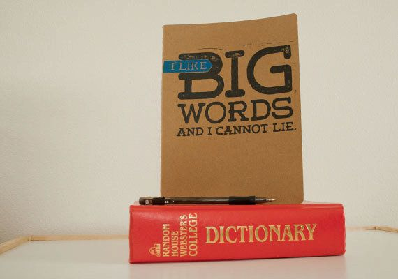 "Indulge your predilection for gargantuan words with this journal. (Via <a href=""https://www.etsy.com/listing/94051598/gift-fo"