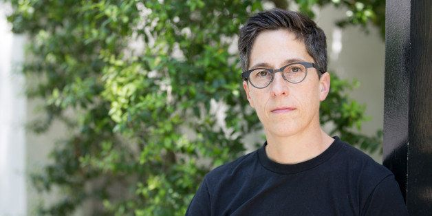CHARLESTON, SC-APRIL, 21: Alison Bechdel at a rehearsal as cast members of the musical of her memoir, 'Fun Home', prepare for a performance of selected songs to be delivered in support of protesters at the College of Charleston after proposed state budget cuts were approved in response to 'Fun Home' being offerred as summer reading at the College of Charleston, at the Meminger Auditorium on Monday, April 21, 2014 in Charleston, SC. (Photo by Alice Keeney/For The Washington Post via Getty Images)
