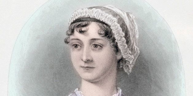 Portrait of English novelist Jane Austen, after a watercolor by Cassandra Austen, hand-colored engraving, c. 1850. (Illustrat