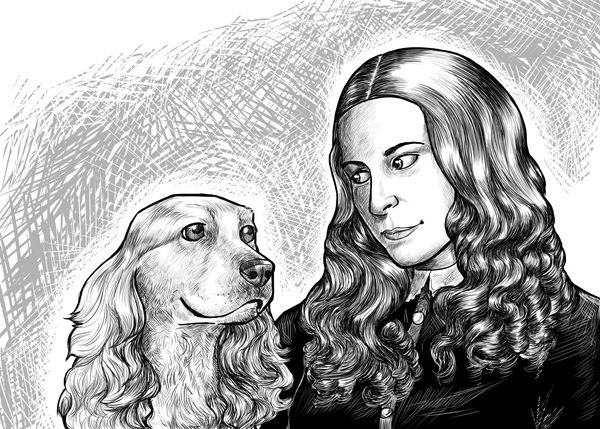 """He & I are inseparable companions,"" wrote Elizabeth Barrett of her cocker spaniel Flush, ""and I have vowed him my perpetual"