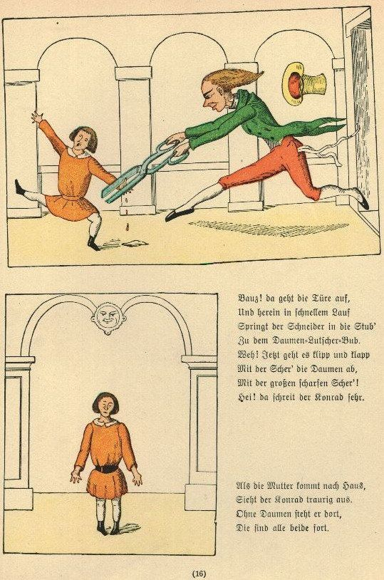 The original scary book for children, <em>Struwwelpeter</em> was one of the first books written explicitly for kids -- and it