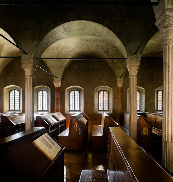 The Biblioteca Malatestiana in Cesena, near Rimini in Northern Italy is without doubt the best-preserved example of what a la