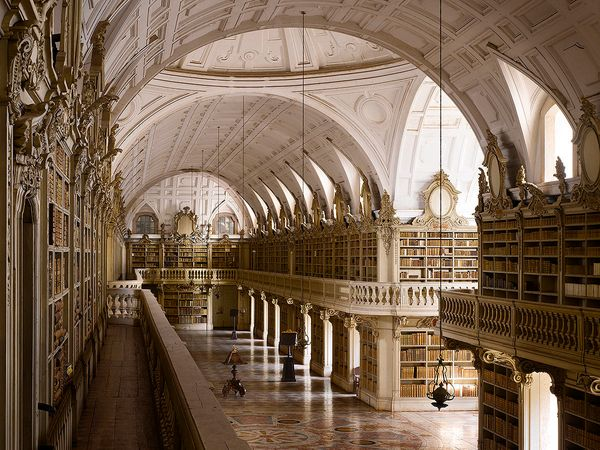 Mafra, in Portugal is 88m (288ft) long, making it the longest monastic library in the world, narrowly beating Admont to the t