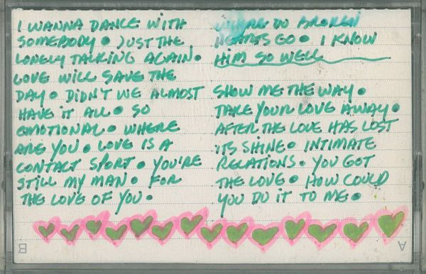 "From inside a cassette found in a box of books. Nothing says ""I love you"" like Whitney Houston."