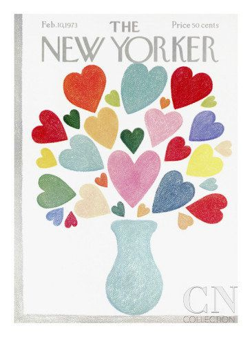 There's a quirky-cute New Yorker cover for every season, so find one that celebrates your love. This one is awfully sweet. (<