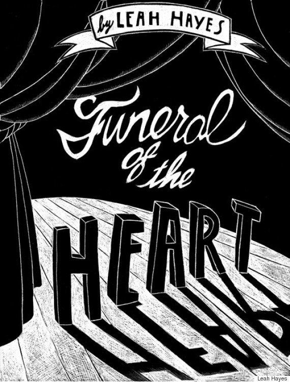 Leah Hayes's debut graphic novel is innovative not only stylistically (the entire monochromatic book was created using a scra