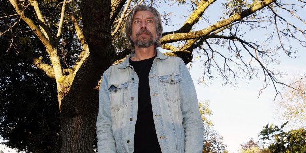 TORONTO, ON - OCTOBER 24:  Norwegian  writer Karl Ove Knausgaard photographed at TYPE  Books and in the park in Toronto.