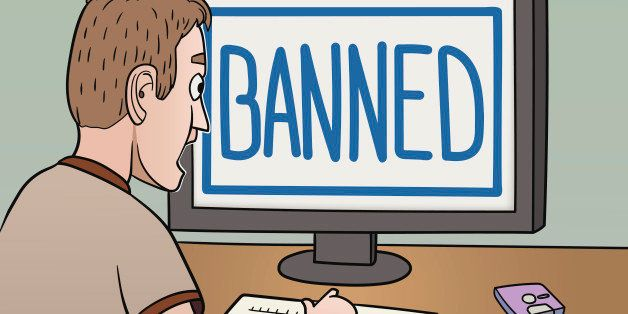 This is the illustration about banning in the internet