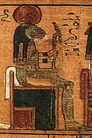 Tefnut was the ancient Egyptian goddess of moisture, rain and dew—a very significant task in a desert country.  Daughter of t