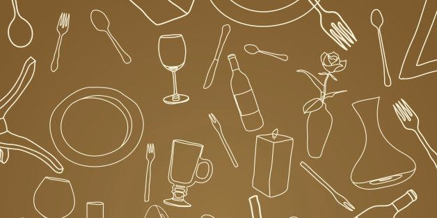 An useful set of fine dining related elements great for backgrounds or individual placements and abstract designs.
