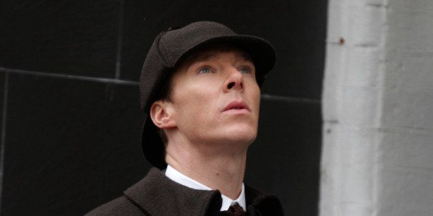 LONDON, ENGLAND - FEBRUARY 07:  Benedict Cumberbatch sighting filming Sherlock on February 7, 2015 in London, England.  (Phot