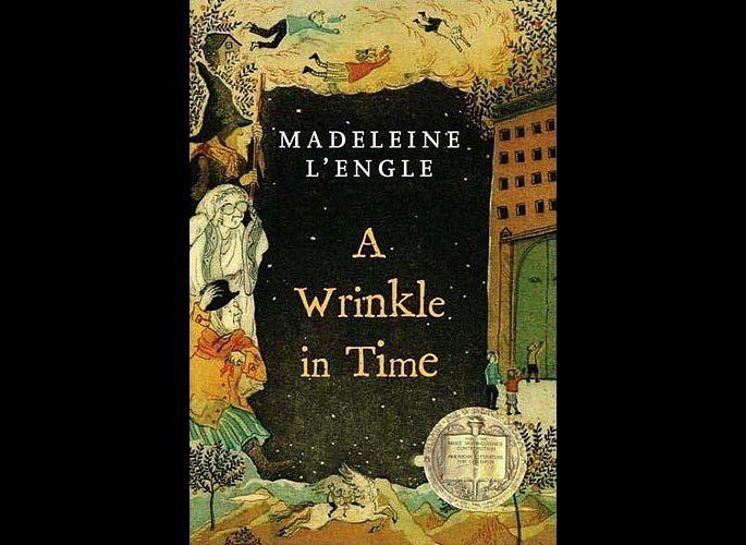 "Winner of the Newbery Medal in 1963, ""A Wrinkle in Time"" tells the story of three children on an adventure in a ""tesseract"" –"