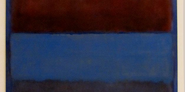 No. 61 (Rust and Blue), 1953. Oil on canvas (1903-1970) Panza Collection. MOCA, LA