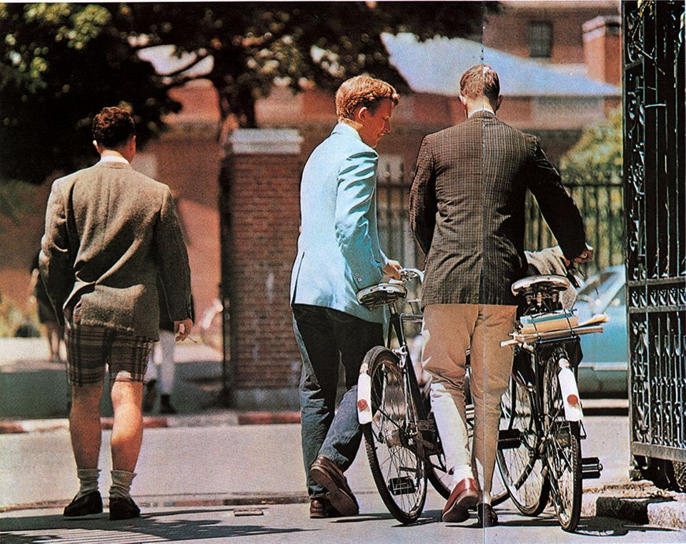 """""""Many Ivy League universities prohibit students from owning cars. Do they go on a date on a bicycle, I wonder? In any case, c"""