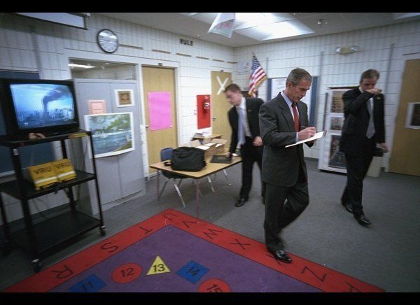 George W. Bush chief photographer Eric Draper's images from 9/11 tell a riveting story. He described it  as one of his hardes