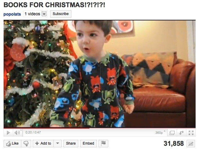 Books For Christmas!?!?!?!\': Angry Kid FLIPS OUT Over Christmas Gift ...