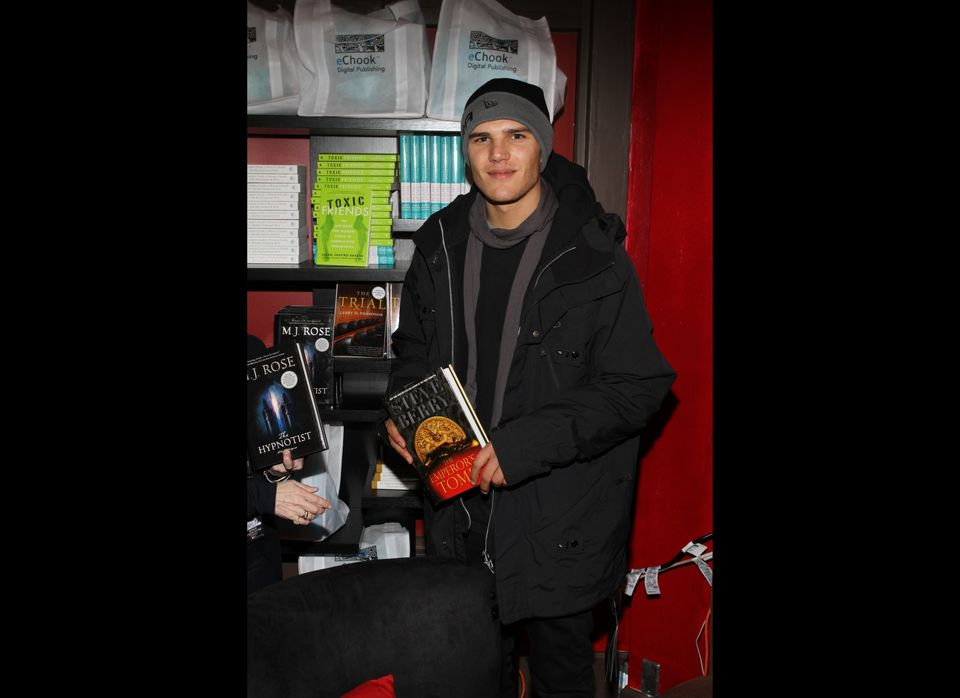Chris Zylka, star of the upcoming <em>Spider-Man</em> movie was snapped with THE EMPEROR'S TOMB by <em>New York Times</em> be