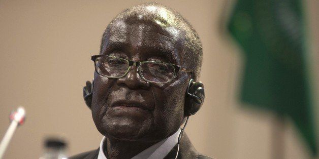 JOHANNESBURG, SOUTH AFRICA - JUNE 15: Zimbabwe's President and Head of the African Union Robert Mugabe seen during a press co